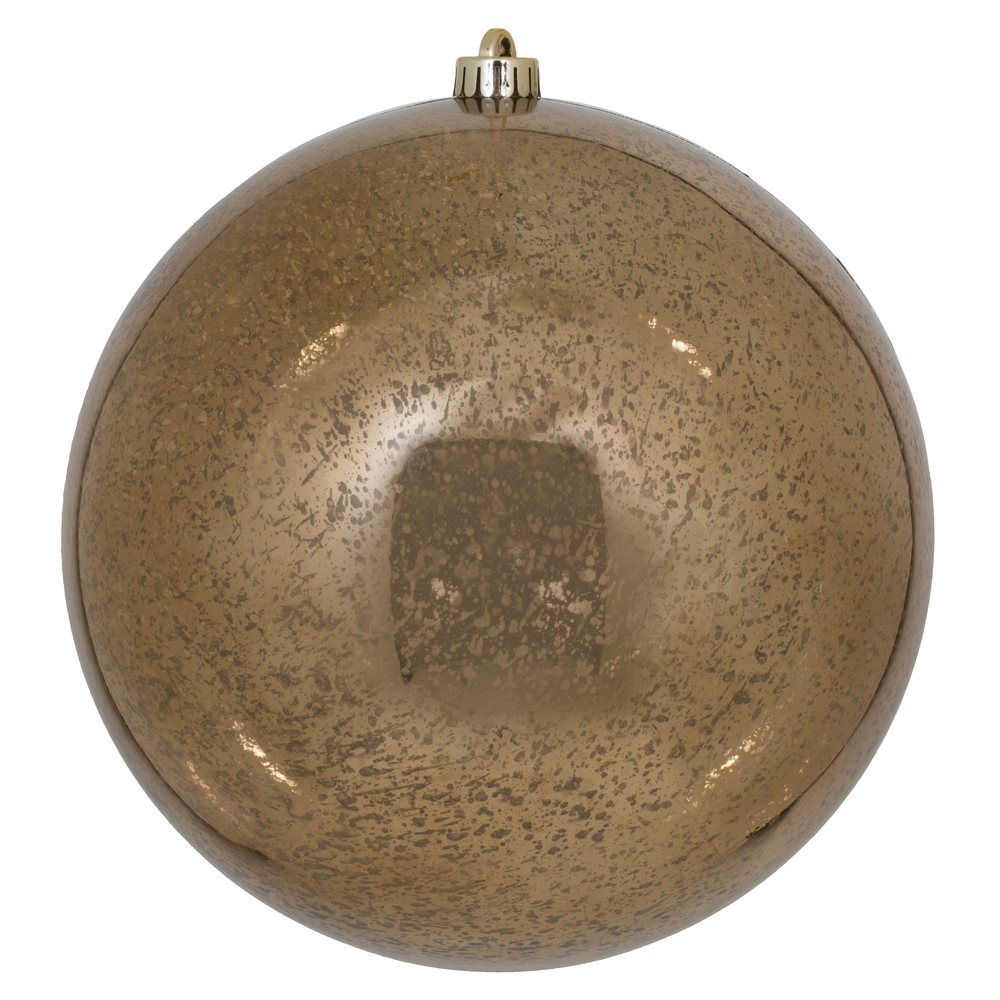 10 Inch Mocha Shiny Mercury Christmas Ball Ornament Shatterproof