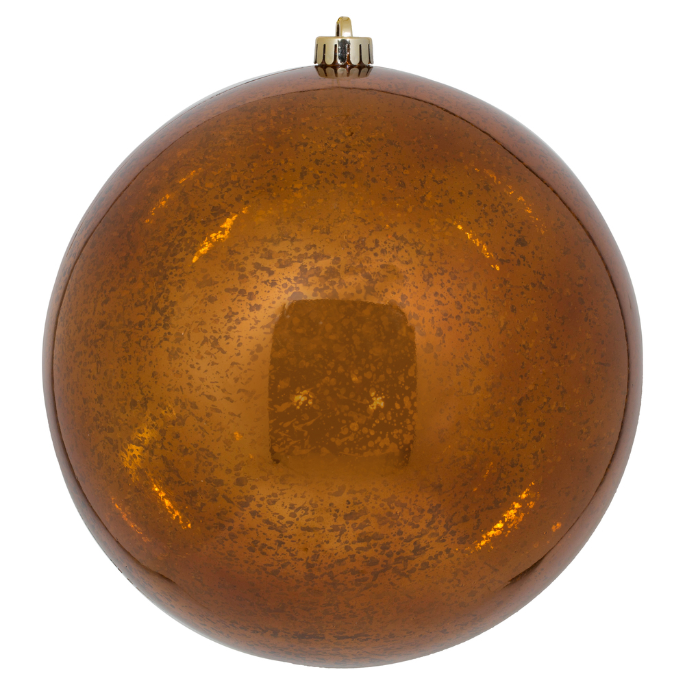 10 Inch Copper Shiny Mercury Christmas Ball Ornament Shatterproof