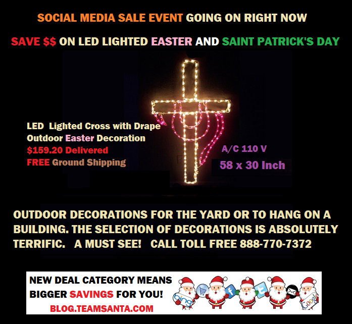 Outdoor LED Lighted Cross with Drape Easter Decoration on Christmastopia.com