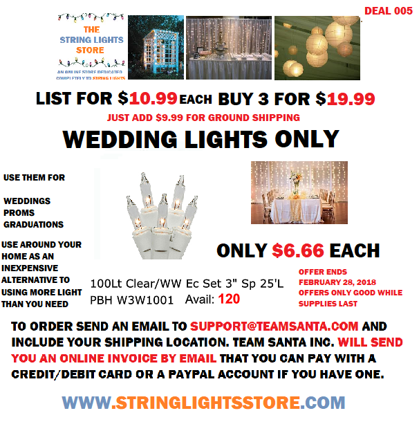 A Wedding Lights Deal That is so Good it's Something Everyone Can Agree On