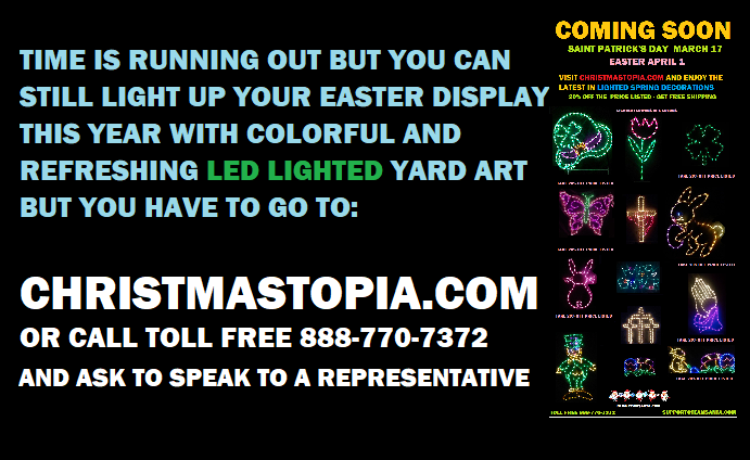 With Easter 2 Weeks Away Try Decorating Around Your Property With Our Lighted Easter Decorations