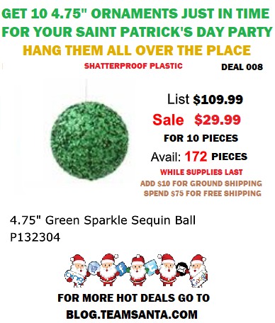 Deal 008 is Exclusively in Celebration of Saint Patrick's Day. Especially For Irish Decorations For Saint Patrick's Day.