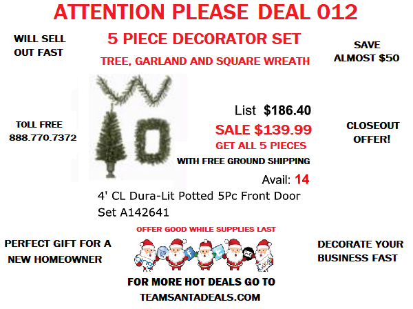DEAL 012 Delightful Trio of Christmas Decorations are Absolutely Perfect for Holiday Decorating See For Yourself