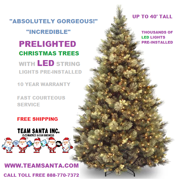 Prelighted Artificial Christmas trees