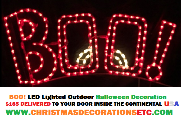 Lighted Halloween Boo Sign Just Another Great Halloween Decoration for 2018 Decorating Season