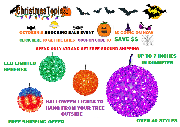 Spook Out Your Hood With Indoor - Outdoor Jumbo LED Lighted Globe Halloween Decor