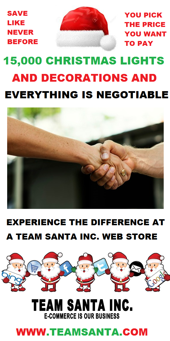 You Pick The Price You Pay at Haggle Mania Going On Now At All Team Santa Inc. Web Stores