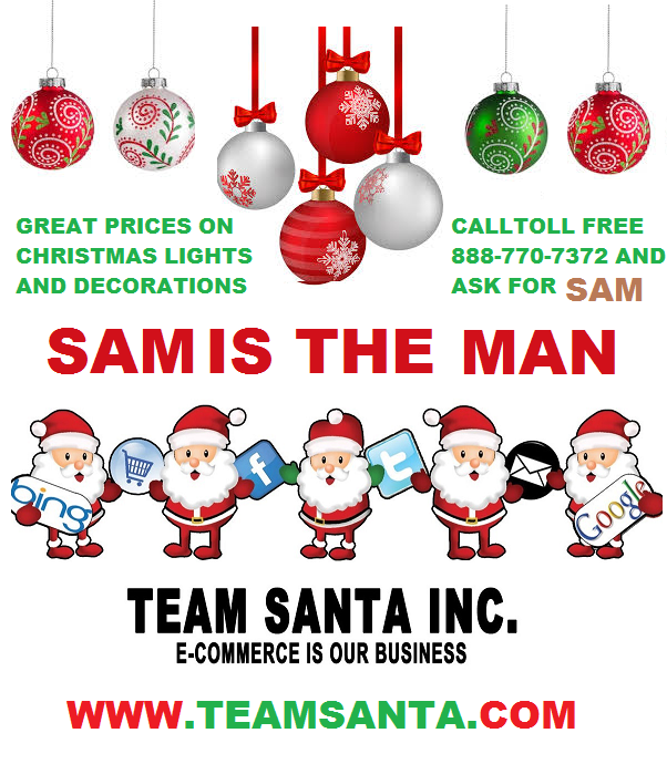 Meet Sam Bartolo - Sam is The Man Who Knows Holiday Decorating at Team Santa Inc.