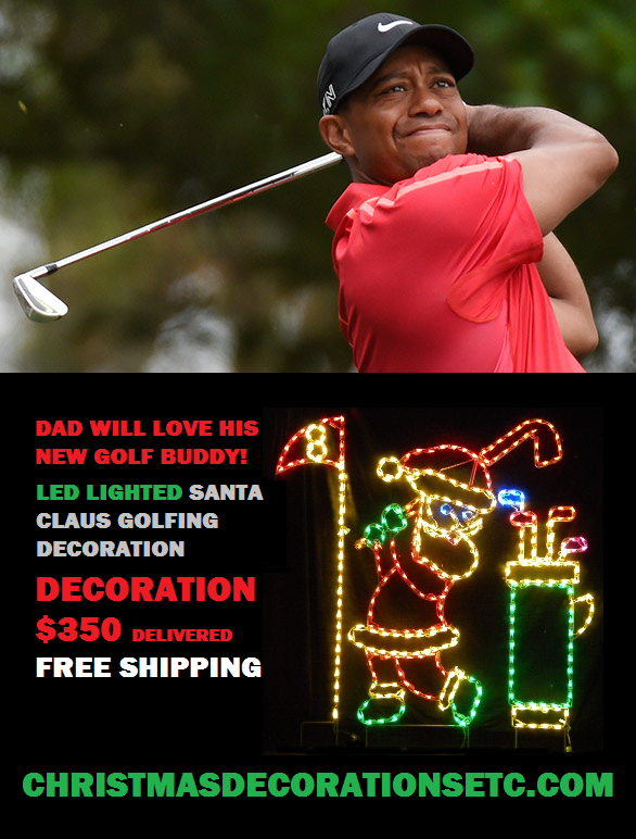 After Four Back Surgeries Tiger Woods Finally Plays Santa Claus at the North Pole Open