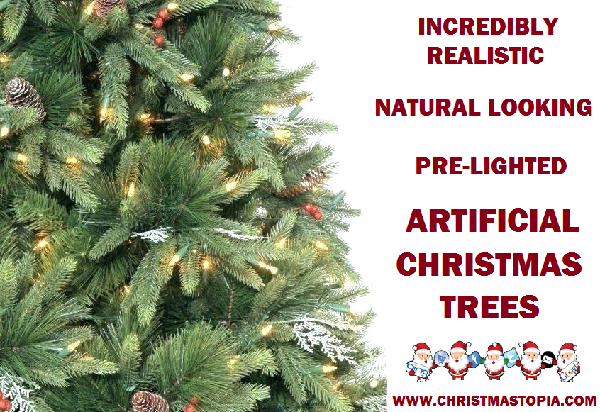 LED Lighted Real Looking Christmas Trees - You Will Not Be Able to Tell The Difference