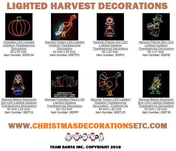 Lighted Harvest Decorations May Be A Small Precursor To  Your Grand Holiday Display, Let's Go And See