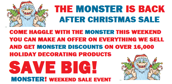 Monster After Christmas Sale Event