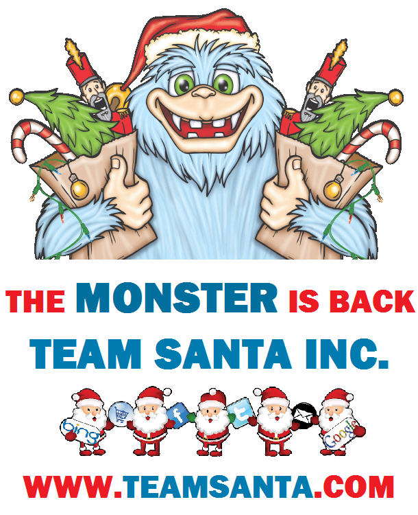 SINGLE MONSTER W TEAM SANTA INC.