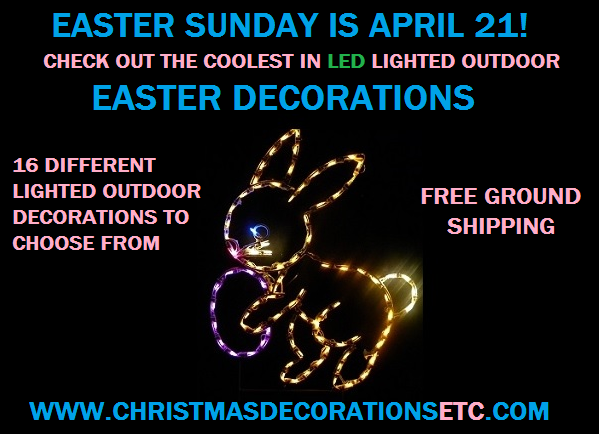 Lighted Outdoor Easter Decorations Will Have Your House Singing it's Spring Again