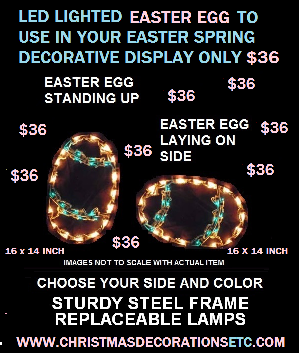 LED Lighted Indoor Outdoor Easter Eggs
