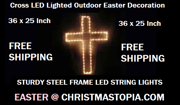 LED Lighted Cross Outdoor Easter Decoration is Absolutely Beautiful Come On Over