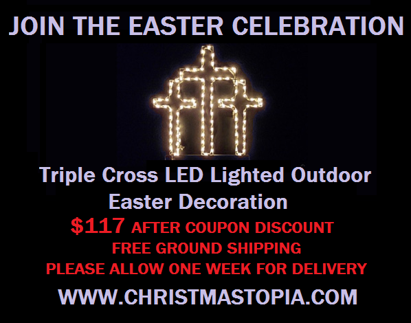 Triple Cross Lighted Outdoor Easter Decoration is Absolutely Gorgeous