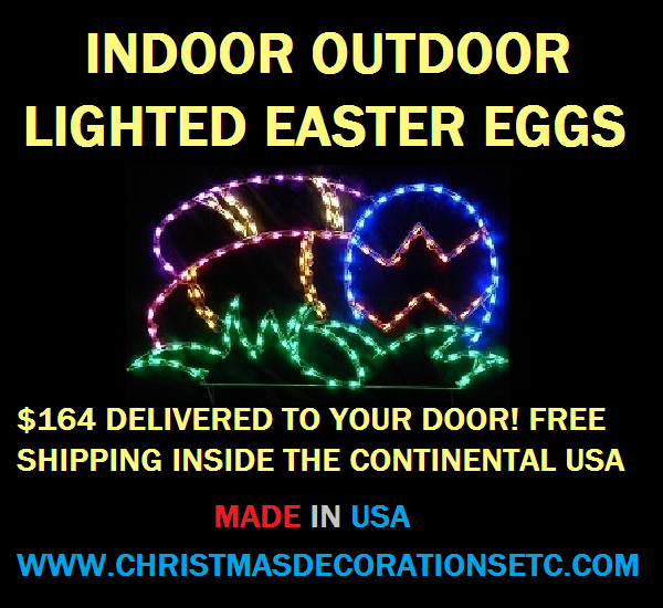 Lighted Easter Egg Decoration