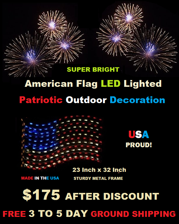 Show Your USA Proud This Summer With An LED Lighted American Flag