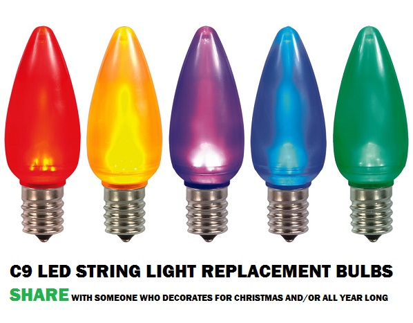 C9 String Light Bulbs Are A Practical Alternative To Old Fashioned Christmas Bulbs