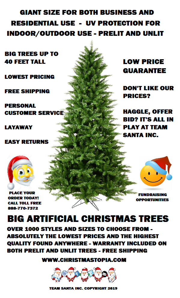 Big 10 Foot Artificial Christmas Tree Looks Just Like a Real Christmas Tree in The Forest