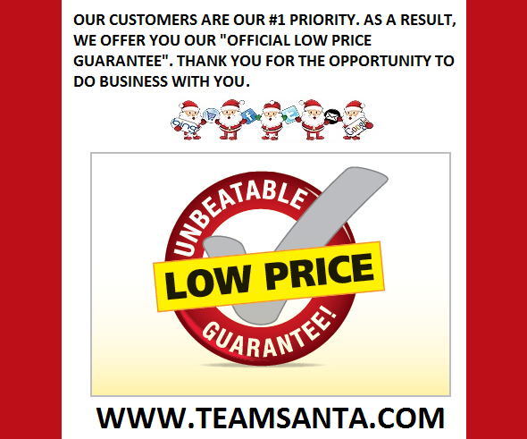 Santa's Official Low Price Guarantee For 2019 Is In Effect. Holiday Decorating, Cheaper Than Ever Before