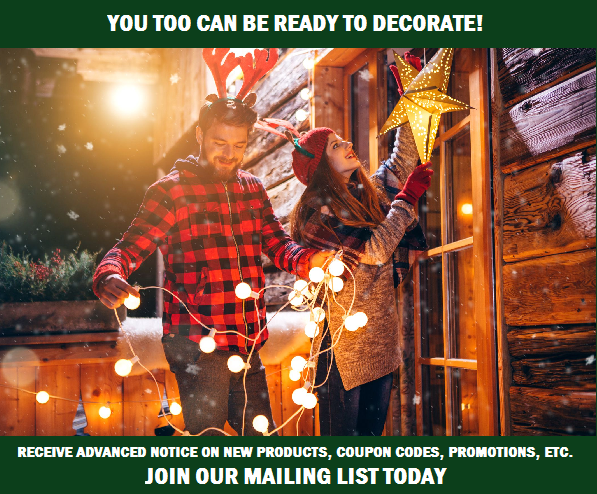 Be The First To Know About Coupon Code Discounts & Sale Information On Christmas Trees, String Lights & Holiday Decorations