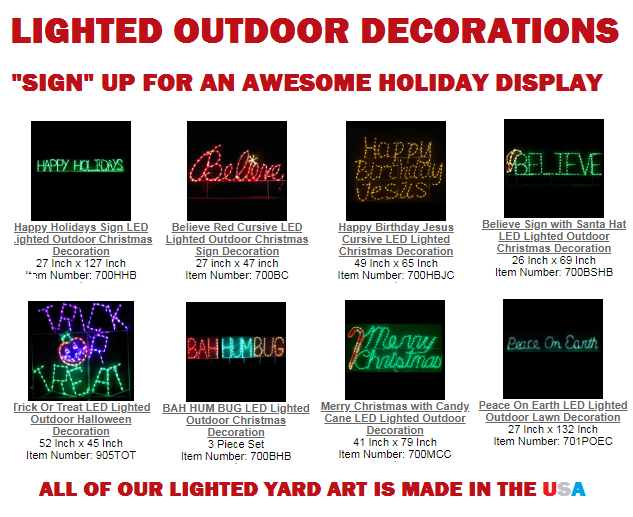 """Sign"" Up For A Extraordinary Looking Holiday Decorations Display"