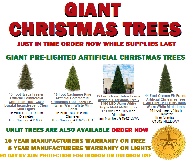 Prelighted Artificial Christmas Trees Get The 15% Coupon Code, Free Shipping, 10 Year Warranty , October Off The Wall Deals