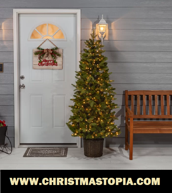 Artificial Potted Christmas Trees Come Both Prelit, Unlit And They Are Incredibly Real And Natural Looking
